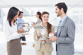 Business people enjoying their drinks