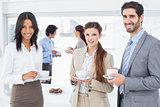 Business people enjoying their drinks