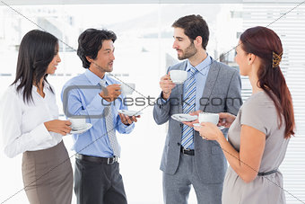 Business team enjoying some drinks