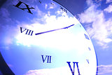 Digitally generated roman numeral clock