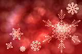 Red snow flake pattern design