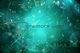Blue snow flake pattern design
