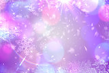 Purple snow flake pattern design