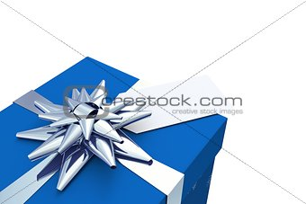 Blue and silver christmas gift