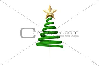 Green christmas tree spiral design