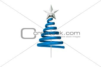Blue christmas tree spiral design