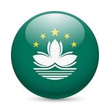 Round glossy icon of Macau