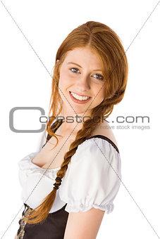 Oktoberfest girl smiling at camera