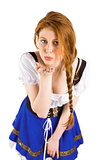 Oktoberfest girl blowing a kiss