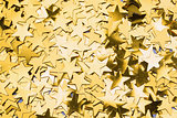 Many gold star decorations background