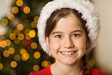 Festive little girl smiling at camera