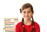 Cute little girl with an abacus