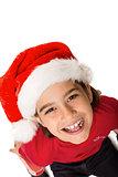 Festive little girl smiling at camera