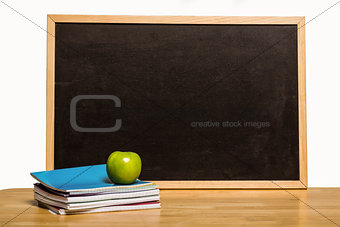Black chalk board with copy space