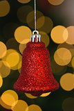 Red christmas bell decoration hanging