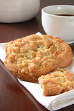 Macadamia nut cookies with coffee