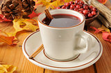 Hot mulled cranberry juice