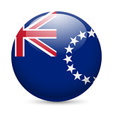 Round glossy icon of Cook Islands