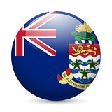 Round glossy icon of Cayman Islands