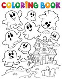 Coloring book ghost theme 2