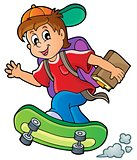 Image with school boy theme 1