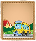 Parchment with school bus 2