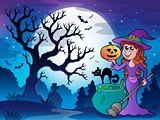Scenery with Halloween character 1