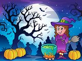 Scenery with Halloween character 3