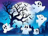 Spooky tree theme image 5