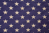 White stars on a field of blue representing the union on the Ame