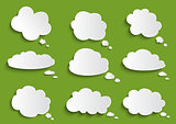 Cloud speech bubble collection