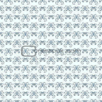 Abstract Seamless Damask Doodle Pattern