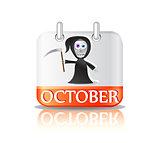 Halloween Calendar Ico