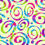 Seamless Abstract Swirl Bright Pattern