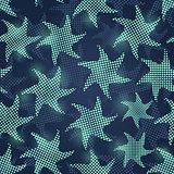 Blue Fish Seamless Pattern
