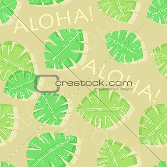 Aloha Hawaiian Seamless Pattern