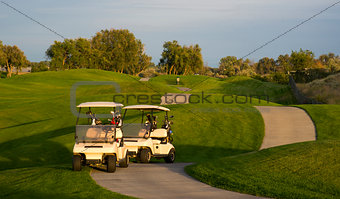 Pair of Golf Carts