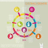 Christmas infographic, vector