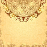 Invintation Card with Brown Circle Ornament