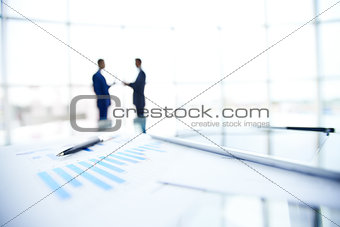 Business document and pen