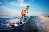 Man surfboarding