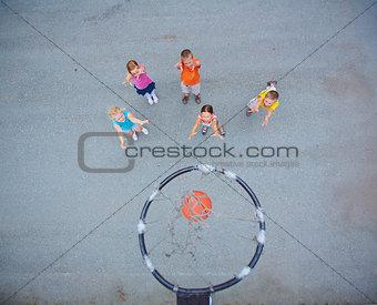 Little basketball players