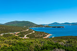 Landscape of coast of Sardinia
