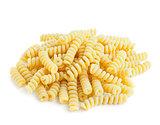 Italian pasta isolated on white