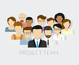 Vector illustration of project team