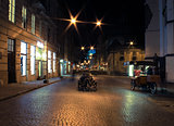 Lviv city night landscape