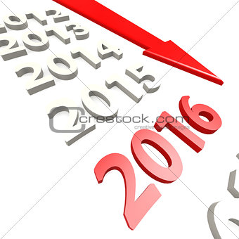 Arrow to year 2016