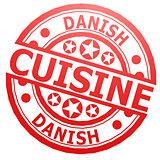 Danish cuisine stamp