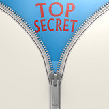 Isolated zipper with top secret