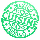 Mexico cuisine stamp